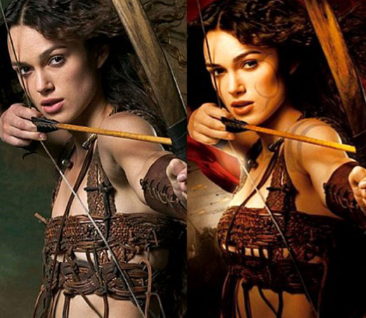 Kiera knightley goes from an a cup to a c to d cup wow those medieval