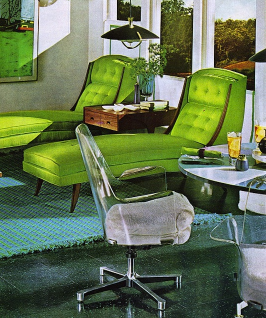 luxurious lime - 70s Home Design