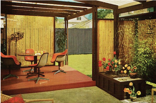 70s Home Design 70s atompunk home design Bamboo Cabana