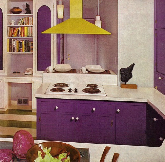 Purple And Yellow Kitchen Wall Art Unframed Kitchen: That 70s Home